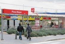 Plaza Mayor train stop on the C1 line next to Ikea