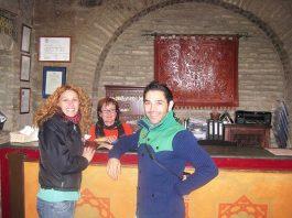 Reception desk at the Hammam Baths in Córdoba