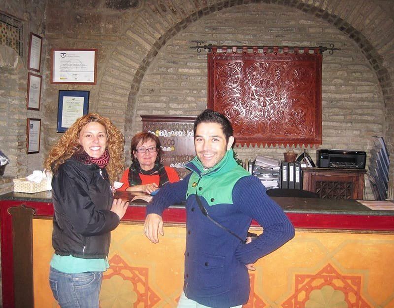 Reception desk at the Hammam Baths in Córdoba