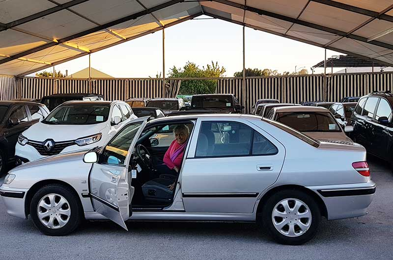 Collecting the th eFamily Car from Parking Sur at Malaga Airport