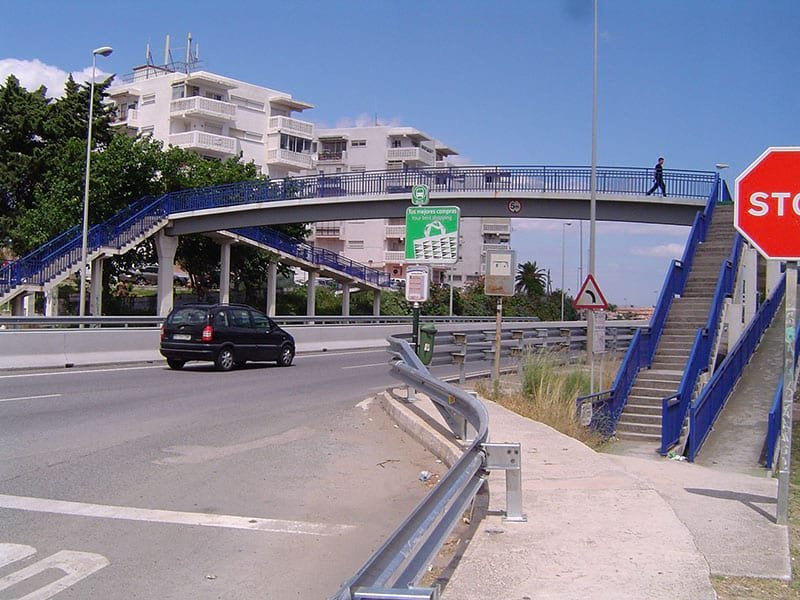 Bus Stops Between Marbella and Estepona. This is the Parque Antena bus stop.