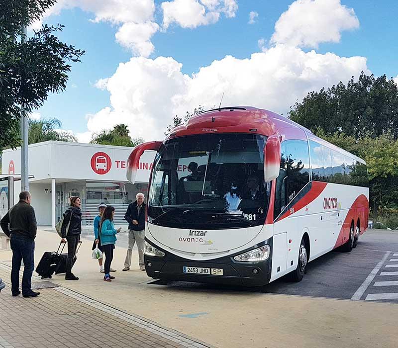 Estepona Bus Station is on the outskirts of Estepona.