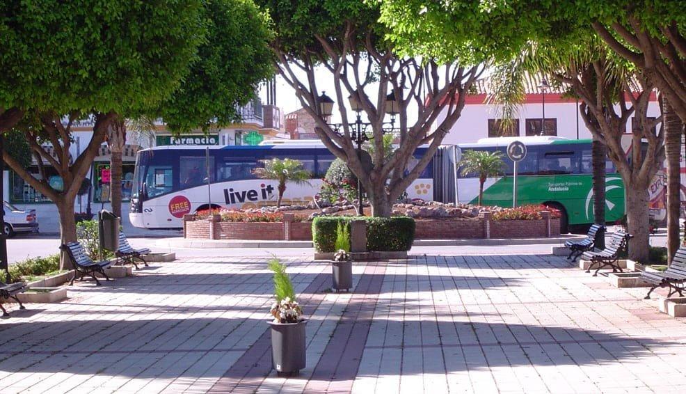 La Cala de Mijas Bus Stop on the M220 bus route