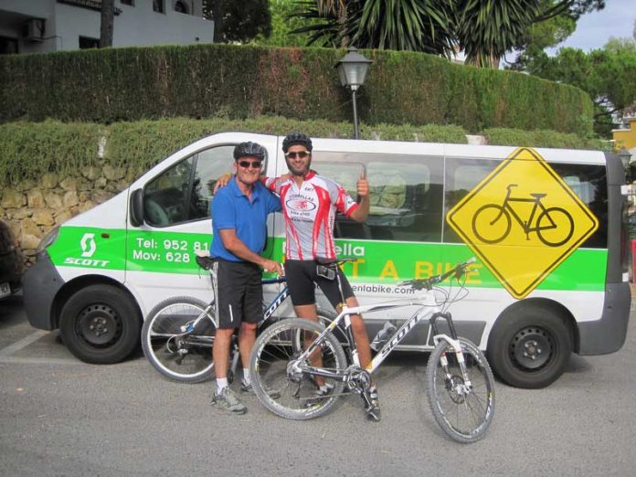 Mountain bike training in Marbella with Hugo Gomez