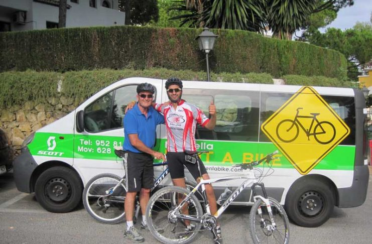 Mountain bike training in Marbella with Hugo Gomez