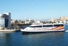The Algeciras to Ceuta Ferry leaving Ceuta Port