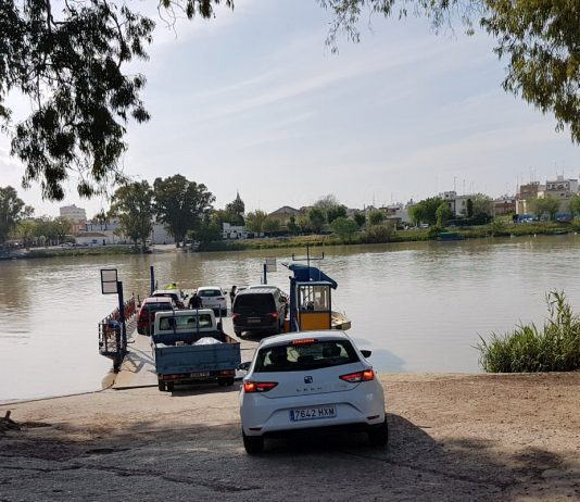 This is the ferry to Coria del Rio over the Guadalquivir River