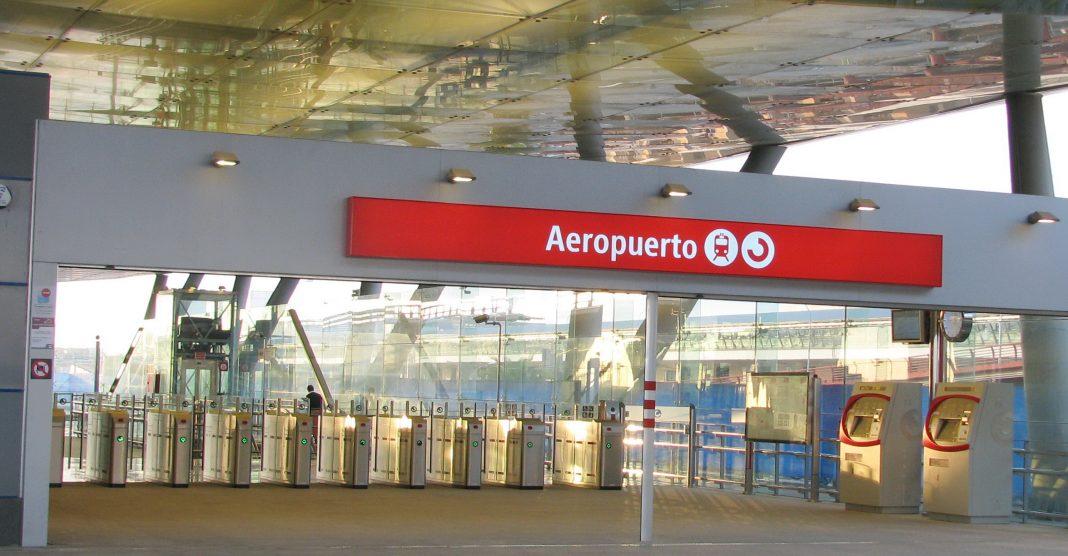 Malaga Airport Train Stop Entrance