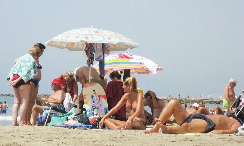 A beach in Marbella